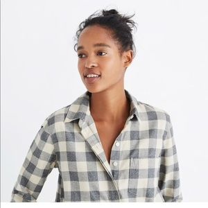 Madewell Button-Back Buffalo Check Shirt XS